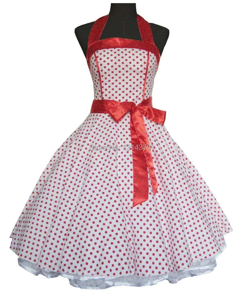 Moterys vasaros 50-ųjų 60-ųjų sūpynės Vintage retro stiliaus - Moteriški drabužiai - Nuotrauka 4