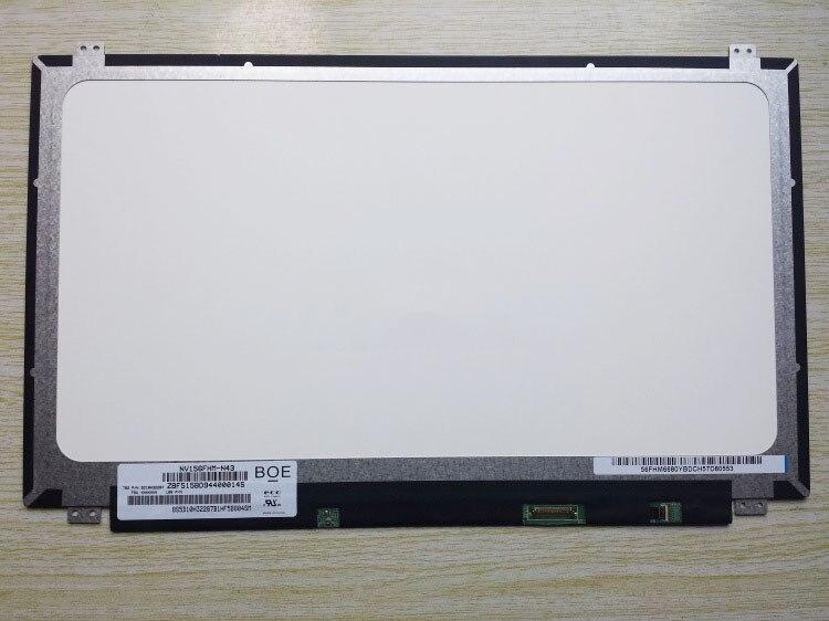 NV156FHM-N43 NV156FHM N43 for BOE 72% NTSC IPS Screen 15.6 inch LCD Laptop Screen 1920x1080 FHD Antiglare 30 PIN 15 6 lcd led laptop screen for boe nv156fhm n46 nv156fhm n41 nv156fhm n31 1920 1080 ips 30pin edp lcd screen 5d10k18374