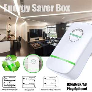 Power Energy Electricity Saving Box Socket Power Factor Saver Device Household Electric Saver 90V-250V US/EU/UK/AU Adapter