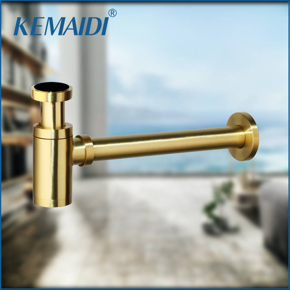 KEMAIDI Solid Brass Bathroom Lavatory Sink Pop Up Drain With/Without Overflow Gold Finish bathroom parts faucet accessories