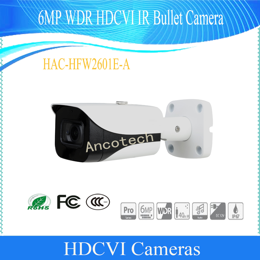 Free Shipping Original Dahua Security Camera CCTV 6MP WDR HDCVI IR Bullet Camera IP67 DH-HAC-HFW2601E-AFree Shipping Original Dahua Security Camera CCTV 6MP WDR HDCVI IR Bullet Camera IP67 DH-HAC-HFW2601E-A