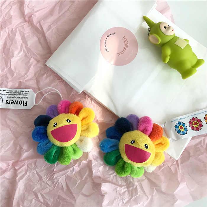 卸売 10 ピース/ロット虹ひまわり kaikaikiki ぬいぐるみぬいぐるみブローチ村上バッグぶら下げ飾り人形