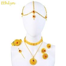 Ethlyn роскошные эфиопии эритрейских traditional jewelry choker sets золотого цвета камень свадебные украшения устанавливает женщин s097