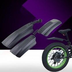 1 conjunto de bicicleta dianteiro & traseiro neve lama guarda pára-choques para 26 polegada mtb bicicletas ciclismo preto rápido instalar
