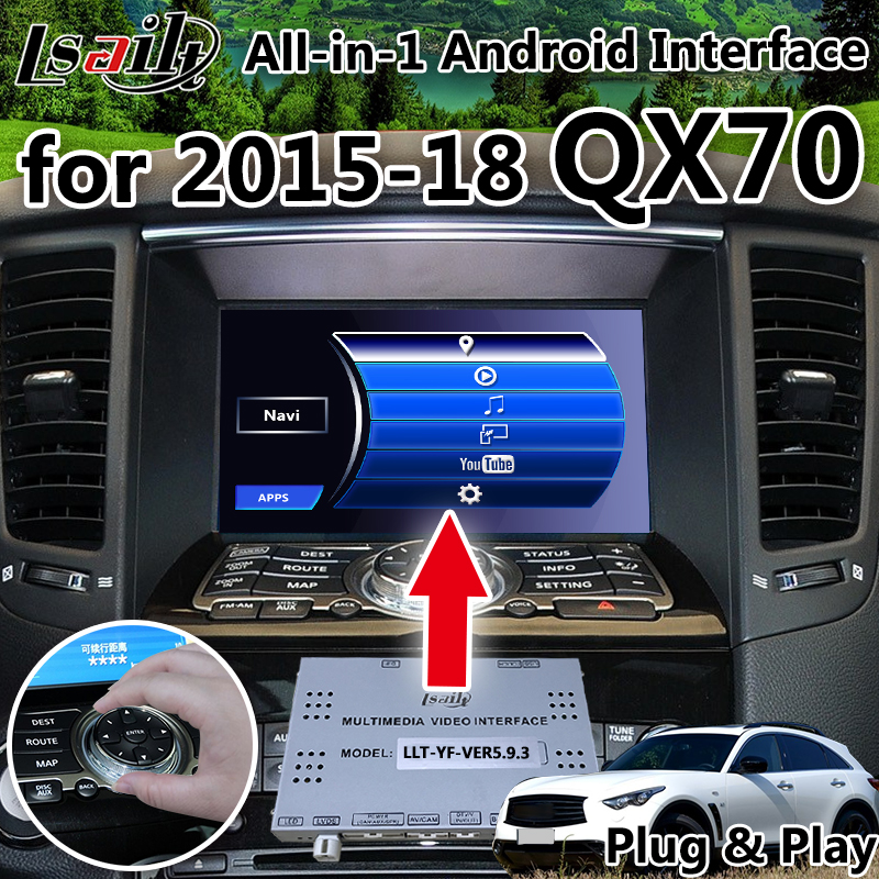 All-in-1 Android GPS Box di Navigazione per il periodo 2015-2018 Infiniti QX70 con wifi, youtube google play waze dal vivo di navigazione, ecc.