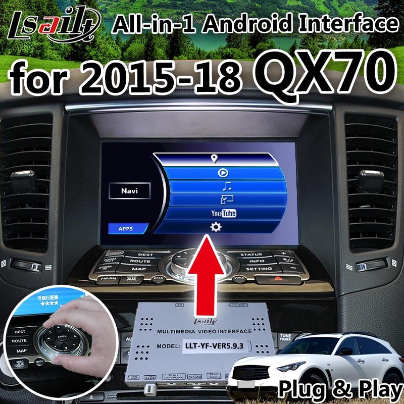 Tout-en-1 Android GPS Box Navigation pour 2015-2018 Infiniti QX70 avec wifi, youtube google jouer waze en direct navigation etc.