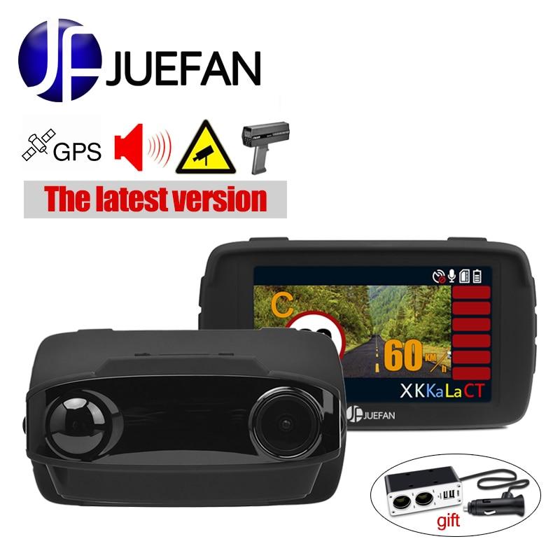 Car dvr radar detector GPS 3 in 1 Car detector camera Full HD 1296P speedcam anti radar detectors dashcam WDR Ambarella A7 LA50