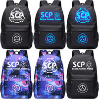 Anime Cyuunibyou SCP Foundation unisex luminous students backpack cosplay travel bags