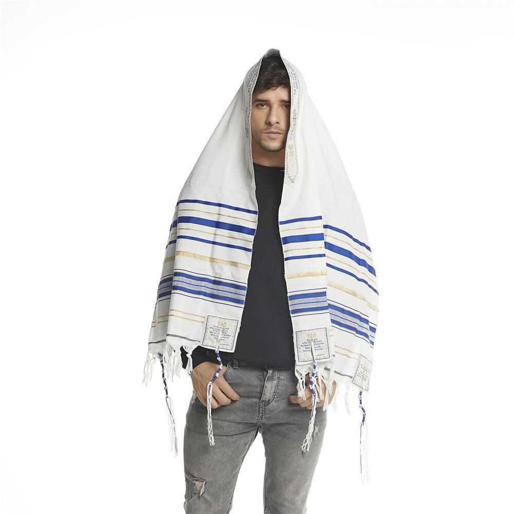 """Image 2 - Jinjin.QC Scarf For Men 72x22"""" (Approx) Messianic Jewish Tallit Talit Prayer Shawl and Talis Bag Prayer Scarves and Shawls-in Men's Scarves from Apparel Accessories"""