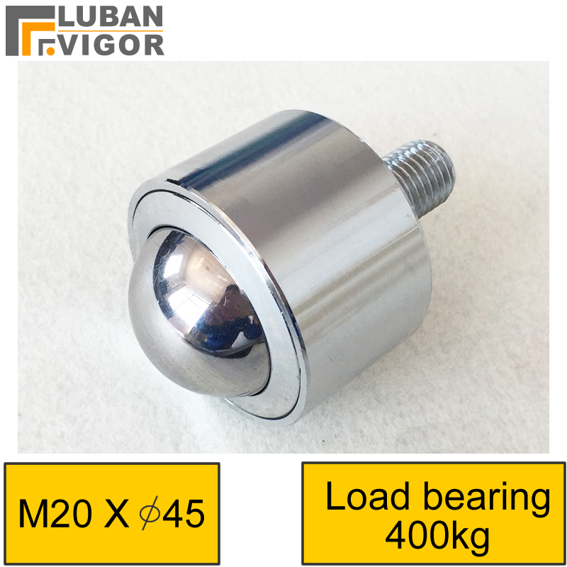 Magasins d'usine robuste droite boule universelle/roulette/roue De Précision livraison ballM20screw, charge ours 400 kg, durable, matériel