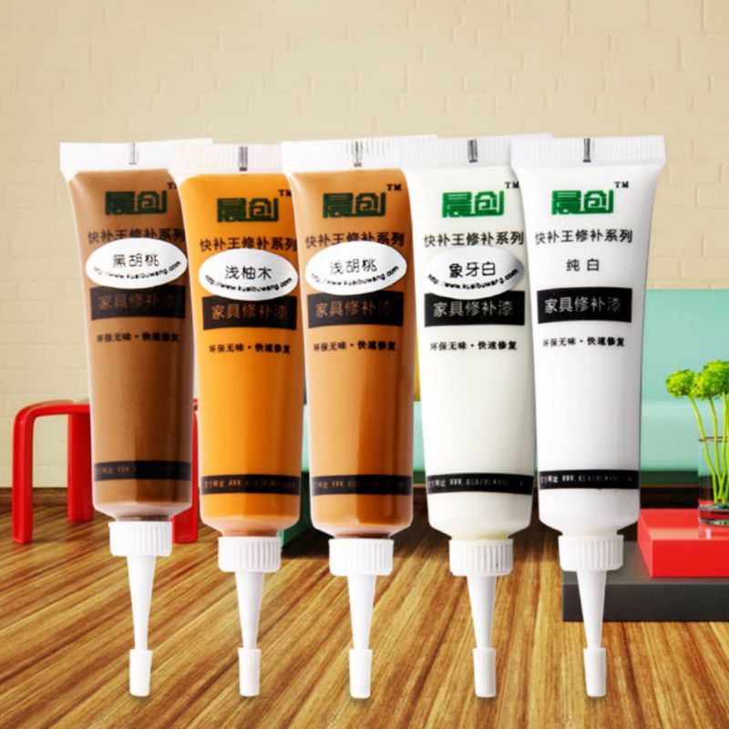 5 Colors Solid Wood Furniture Floor Scratch Fast Remover Repair Paint Refinishing Paste Furniture Repair Tool 10.5 X 2.8cm