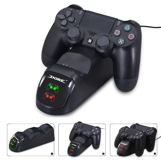 For PS4 Controller Charger,Dual Charger with Charging Status Display Screen  for PlayStation 4 / PS4 Slim / PS4 Pro Controller-in Chargers from