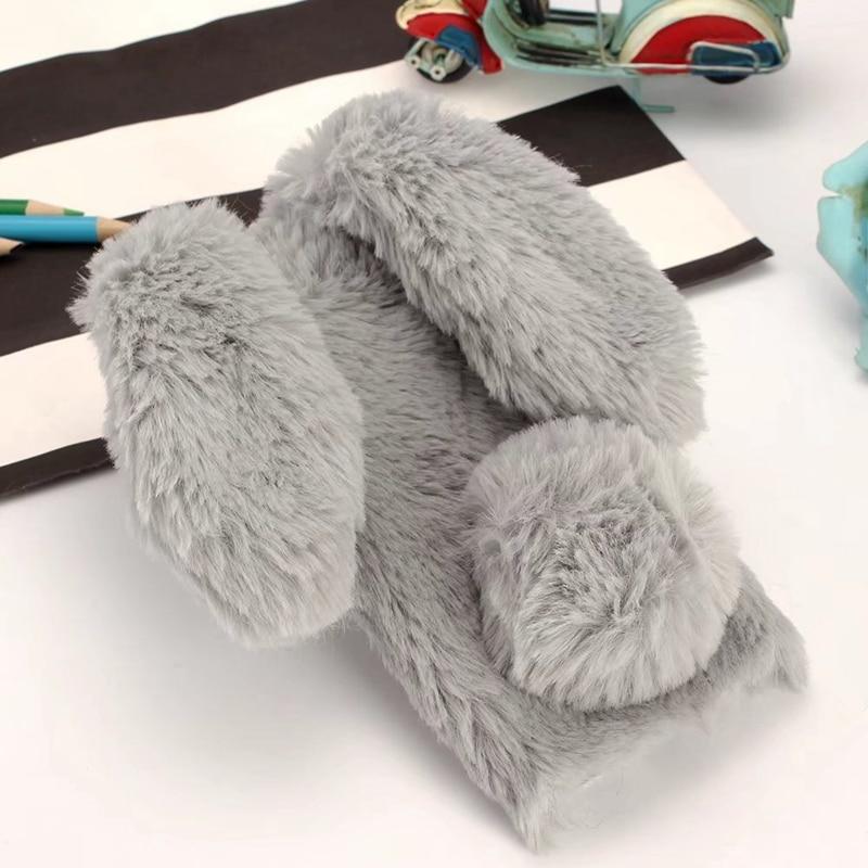 Bunny Plush For Coque Sony Xperia XA1 Case Silicon Rabbit Furry Cover For Sony Xperia XA1 Phone Case For Sony Xperia XA1 Capinha