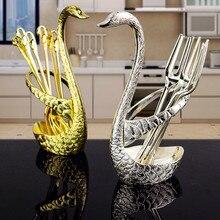 Tableware stainless steel  coffee spoon cutlery rack dinnerware fruit tableware set spoons forks stand racks
