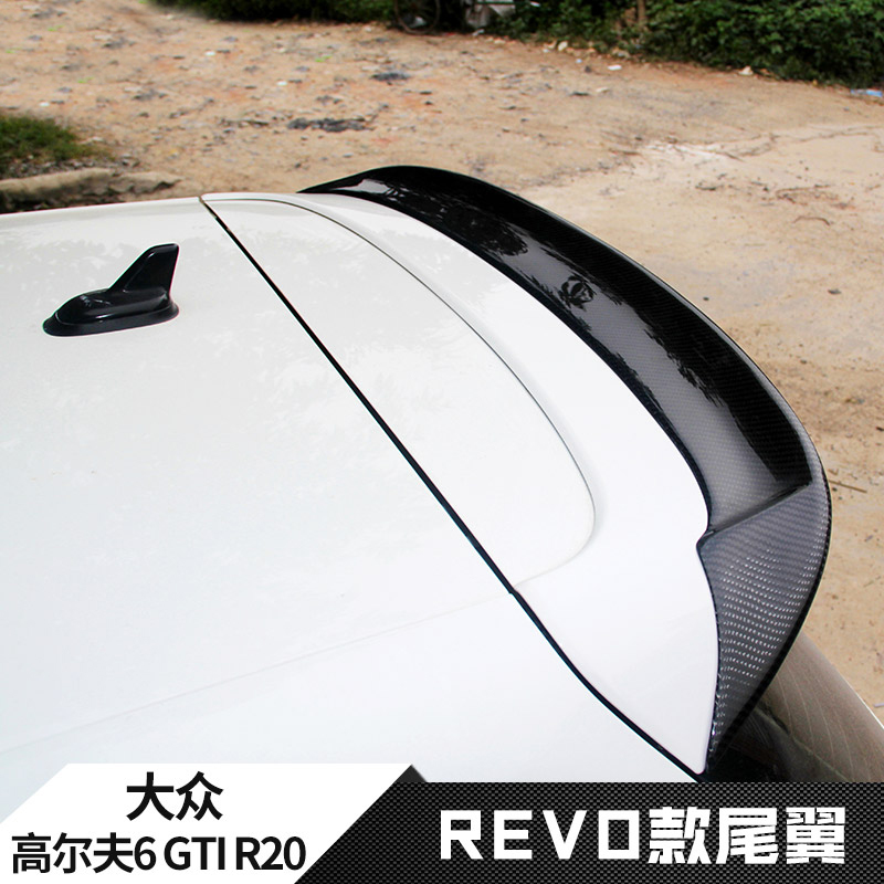 For VW Golf 6 MK6 VI GTI R20 2010 2011 2012 2013 roof tail wing Car decoration spoiler high quality Carbon Fiber (Only GTI R20) high quality golf 6 mk6 carbon fiber full replacement car review mirror cover caps for vw golf6 mk6