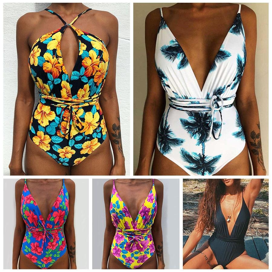 c4db2b5ded6da Sexy Bandage Swimwear Women Monokini One Piece Swimsuit Plus Size Swimwear  Bathing Suit Female Beachwear Swim Wear Beach Girls - aliexpress.com -  imall.com