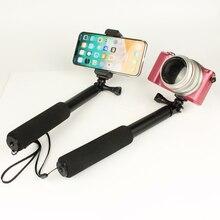 Выдвижной Складной селфи палка монопод штатив подставка для Gopro Hero 3 4 5 6 7 sony samsung телефон камера селфи палка