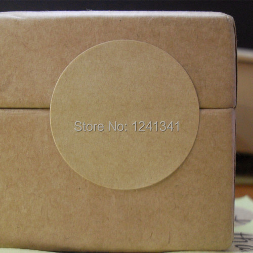 100pcs round blank sticker kraft paper label adhesive labels envelope seals food label bakery cookie stickers