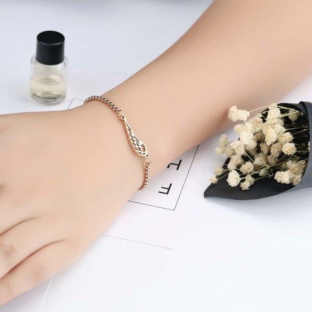 Bracelet avec Ailes d'Ange Porte-Bonheur