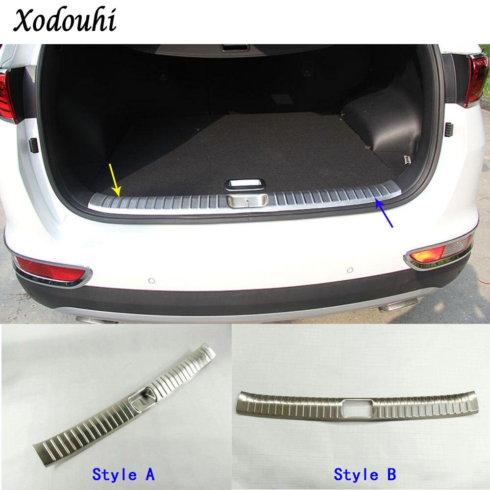 Car Stainless Steel Inner built Rear Bumper trim plate lamp frame threshold pedal 1pcs for Kia Sportage KX5 2016 2017 2018