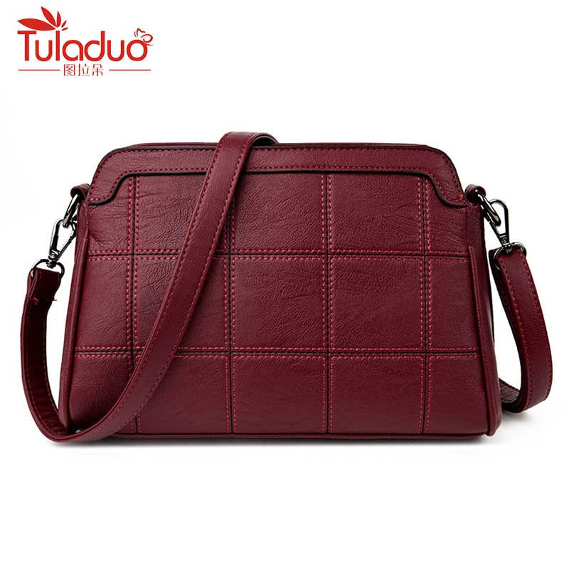 Women Handbag Pu  Leather Plaid Messenger Bags Sac Shoulder Bags Women Crossbody Bag Ladies Designer High Quality Handbags luxury handbags women bags designer pink shoulder messenger bag high quality pu leather crossbody bags for women 2017 sac mb02