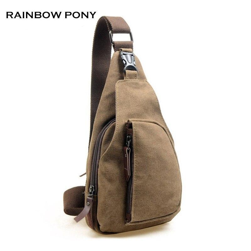 RAINBOW PONY 2017 New Fashion Man Shoulder Bag Men Canvas Messenger Bags Casual