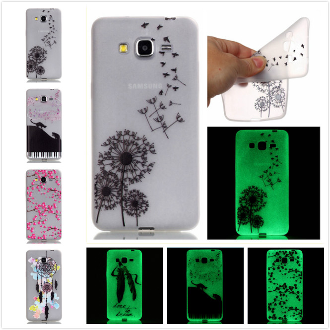 Hot! Fashion Fluorescence TPU Slim Printed Cases For Samsung Galaxy J3 J310F J3109 J3000 Luminous Soft Silicon Phone Case ...