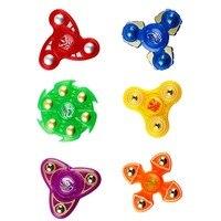 COLOR RANDOM Fingers Rotate Riangle Fingertips Spinning children's Adult Release Pressure Fingertips Gyro Toys  Spinner