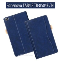 Flip Stand Case For Lenovo TAB4 8 PU Leather Case For Lenovo TAB 4 8 TB