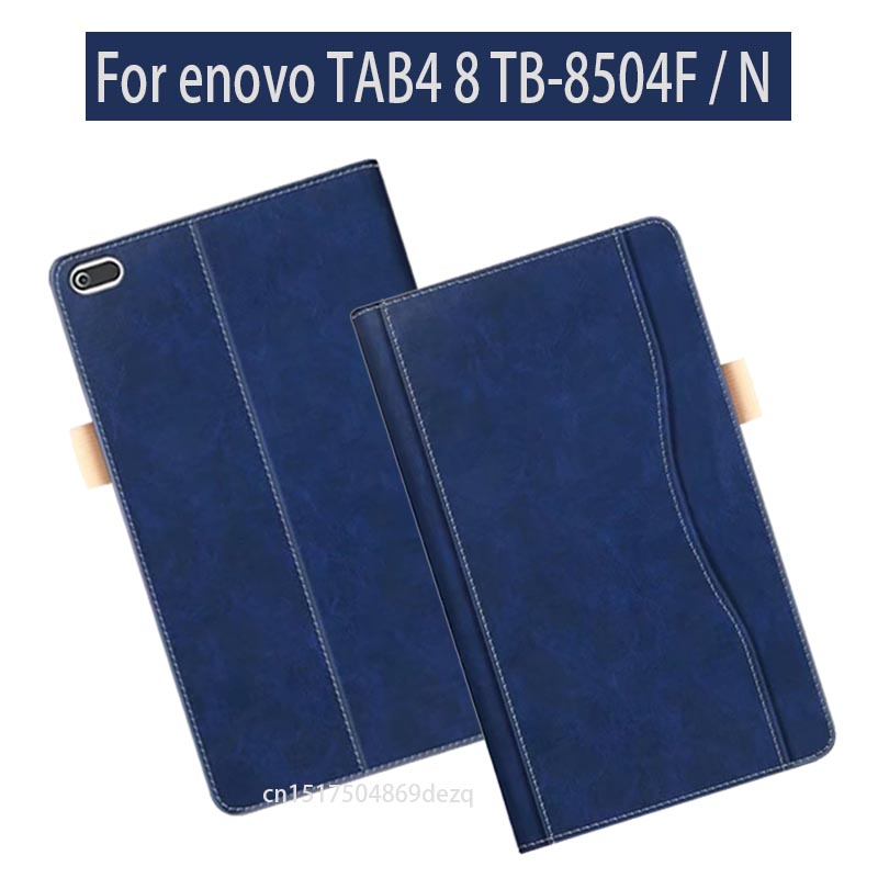 Flip Stand Case For Lenovo TAB4 8 PU Leather Case for Lenovo TAB 4 8 TB-8504F TB-8504N Tablet Case magnetic stand smart pu leather cover for lenovo tab 4 8 tb 8504f 8504n 8 0 tablet funda case free screen protector stylus pen