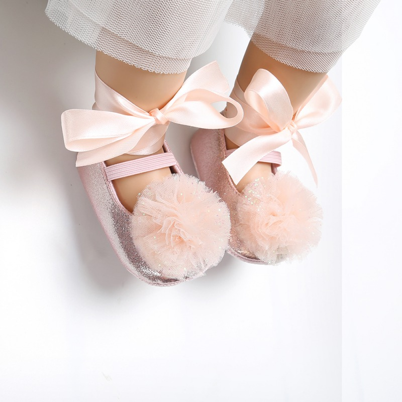 Baby Dance Shoes Toddler Shoes Bow Tie Baby Princess Shoes Dance Shoes Newborn Cute First Walkers 0-18M 7 Colors