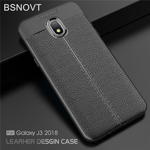 For Samsung Galaxy J3 2018 Case Soft Silicone Leather Shockproof Cover
