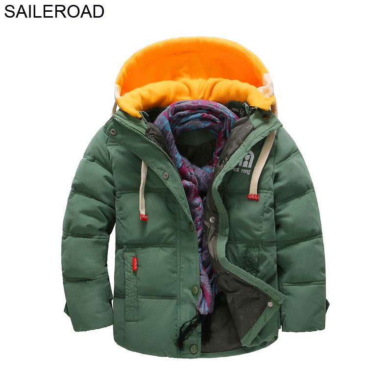 SAILEROAD 5-13Years Winter Children Kids Thick Down Jacket Coat Winter Big Boys Girls Outerwear Down Coat Clothing Kids Clothes цена 2017