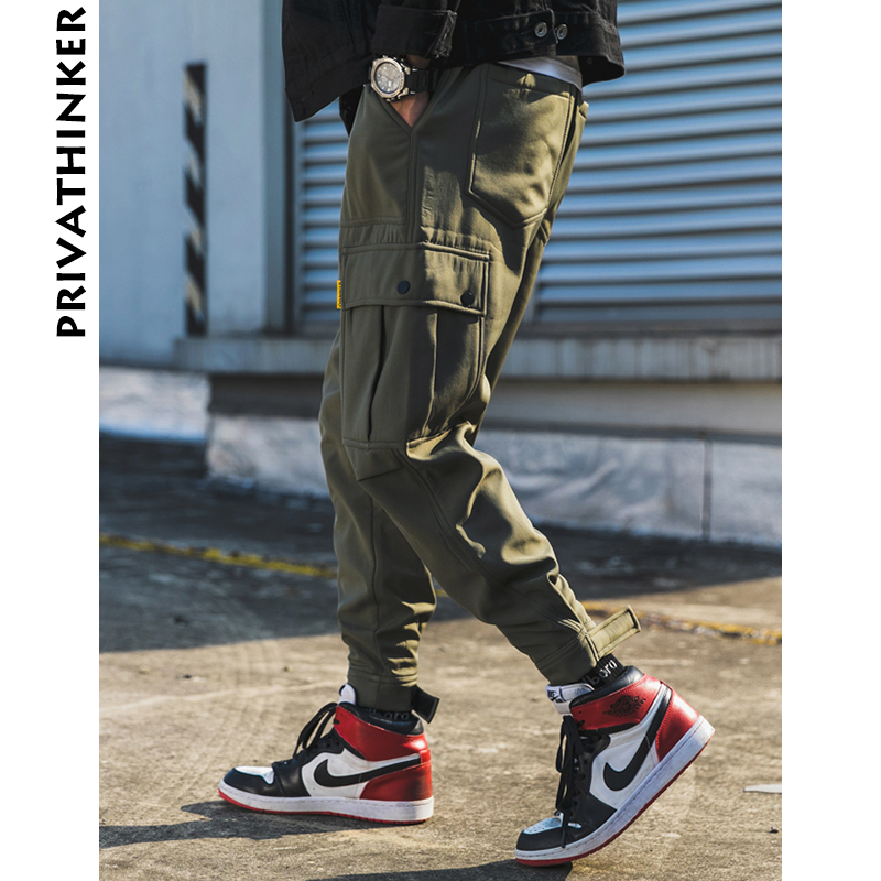Image 3 - Privathinker Men Black Joggers Pants Summer 2019 Mens Big Pockets Ankel Cargo Pants Male Spring Streetwear Overalls Sweatpants-in Sweatpants from Men's Clothing