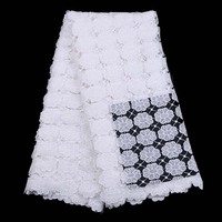 In White African Swiss Voile Lace High Quality Wedding Lace African Fabric 5 Yards Cotton Swiss