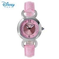 100 Genuine Disney Women Watch Top Brand Luxury Fashion Casual Quartz Watches Relogio Feminino Leather Ladies