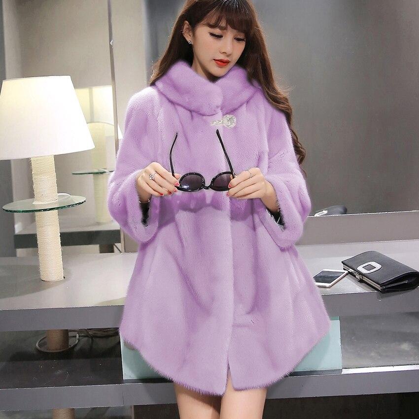 Luxury Faux Mink Fur Coat Slim Long Pink Red Blue Faux Fur Jacket Winter Jacket Women Manteau Fourrure Bontjas Pelliccia Donna