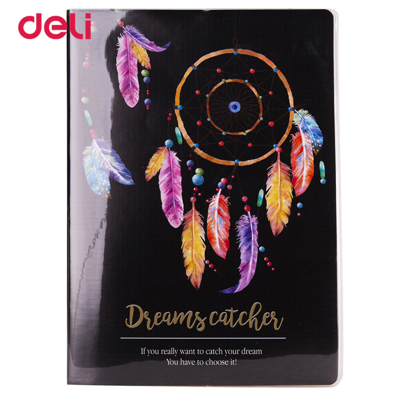 Deli Cute kawaii Notebooks for student Stationery school Dreamcatcher Journal Kid Gift Weekly Diary Sketchbook creative Notebook