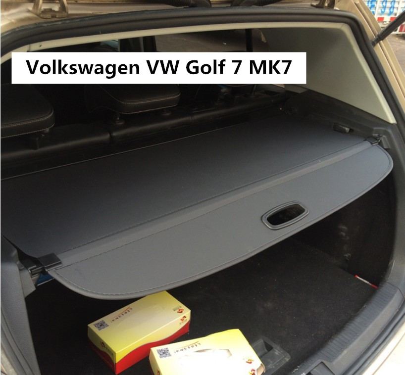 Car Rear Trunk Security Shield Cargo Cover For Volkswagen VW Golf 7 MK7 2014.2015.2016.2017 High Qualit Auto Accessories car rear trunk security shield cargo cover for dodge journey 5 seat 7 seat 2013 2014 2015 2016 2017 high qualit auto accessories