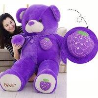 Kawaii 160 см фрукты гигантские Teddy Bear плюшевые мягкие Игрушечные лошадки дети Игрушечные лошадки огромные чучела Животные TED Куклы Best подарки д...