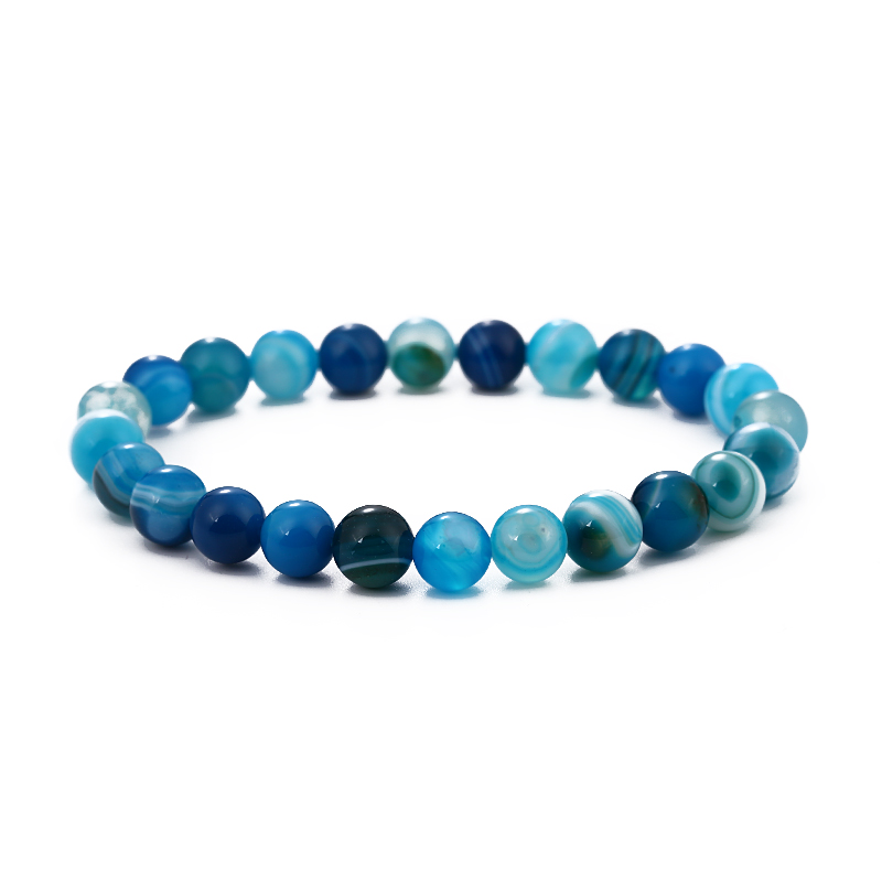 Kang hua 2019 Trendy 12 color 8mm stone Bracelet Dazzling Handmade DIY Bracelets for Men Women Creative Elegant Jewelry Selling in Strand Bracelets from Jewelry Accessories