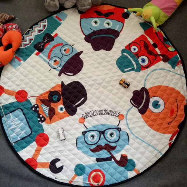 Round Play Mat and Toys Bag – many cute models