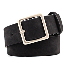1Pcs Fashion Women PU Leather Belts for Jeans Pants with Metal Button Ladies Waist Belt