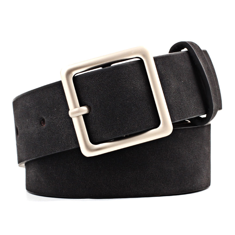1Pcs Fashion Women PU Leather   Belts   for Jeans Pants with Metal Button Ladies Leather Waist   Belt