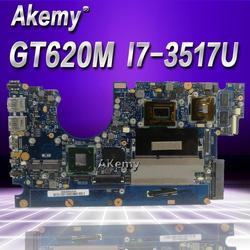Akemy UX32VD Laptop płyta główna For Asus UX32VD UX32V UX32 Test oryginalna płyta główna 2G RAM I7-3517U GT620M