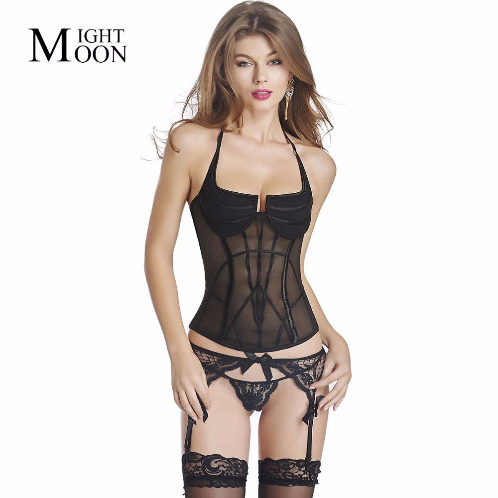 MOONIGHT Women Sexy Corset Solid Fashion Simple Style Bodyshaper Shapewear Waist Train Corsets S~2XL