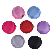 1Pc Hold Case Storage Carrying Hard Bag Box For Earphone Headphone Earbuds Memory Card Black Blue Red Pink Color
