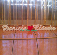 Custom wedding letter, garden decoration The bedroom decorates a wall post letters
