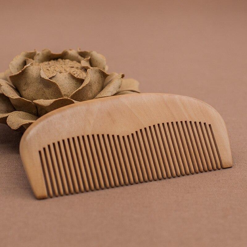 C30 Peach wood comb natural health comb boutique wooden comb custom logo printing