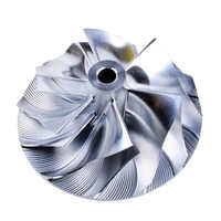 Kinugawa Turbo Billet rueda de compresor/52,56/68,01mm 6 + 6 inversa para Mitsubishi TD05HR TD06SL2R 20G EVO 4-9 SRT4 9179-43400